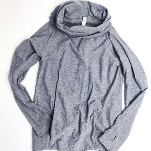 Lululemon Make a Move EUC Gray Cowl Pullover